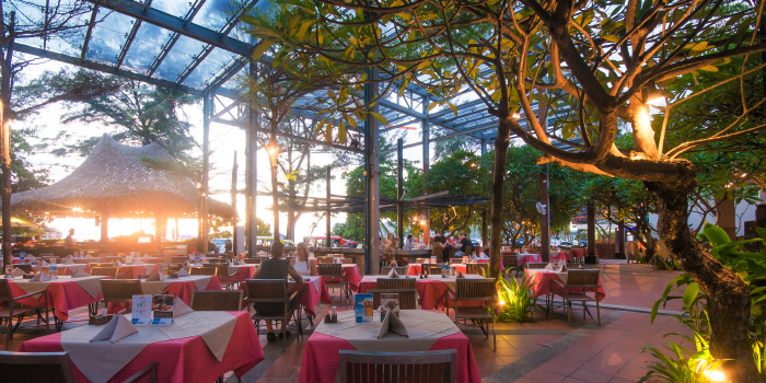 Restaurant Atmosphere of Laimai Courtyard Restaurant and Bar in Patong, Phuket, Thailand.