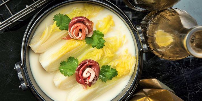 Seasonal Vegetables in O rganic Soya Milk, Yum Cha, Central, Hong Kong