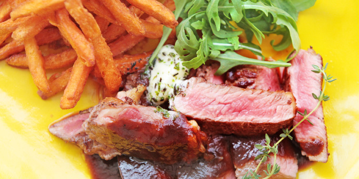 Steak Frites from Bubbles Restaurant in Patong, Phuket, Thailand.
