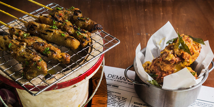 Satay and Salted Egg Drumlets from Supply & Demand (Esplanade) in Promenade, Singapore