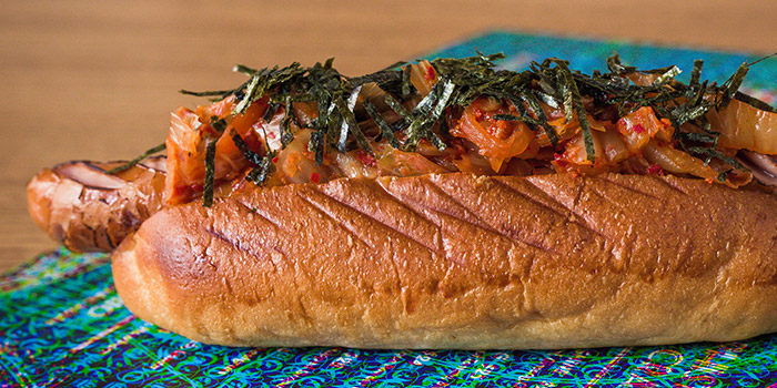 Kimchi Hotdog from The Library on Keong Saik Road in Chinatown, Singapore
