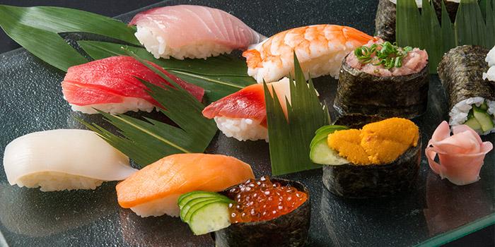 Assorted Sushi from Tsubohachi Izakaya Hokkaido at Changi Airport Terminal 2 in Changi, Singapore