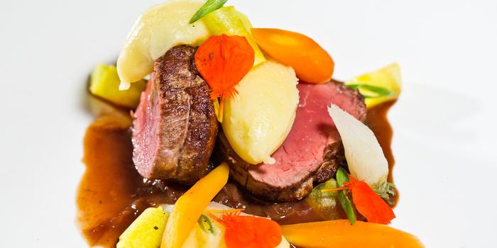 Pan-Roasted Beef Angus at Plantation Restaurant Alila Ubud