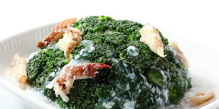 Brokoli Siram dengan Saus Daging