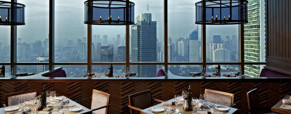 Exclusive dining area on the 46th floor of The Plaza