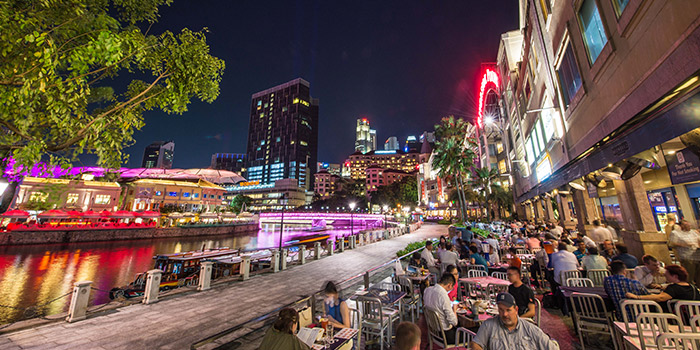Outdoor Area of Brewerkz Riverside Point in Clarke Quay, Singapore