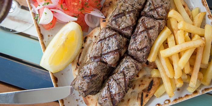 Beef Souvlaki from Bakalaki Greek Taverna on Seng Poh Road in Tiong Bahru, Singapore