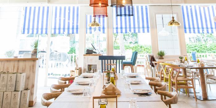 Dining Room in Bakalaki Greek Taverna on Seng Poh Road in Tiong Bahru, Singapore