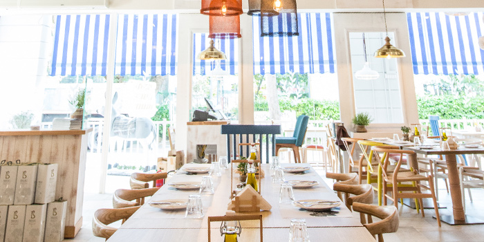 Dining Room in Bakalaki Greek Taverna on Seng Poh Road in Tiong Bahru, Singapore