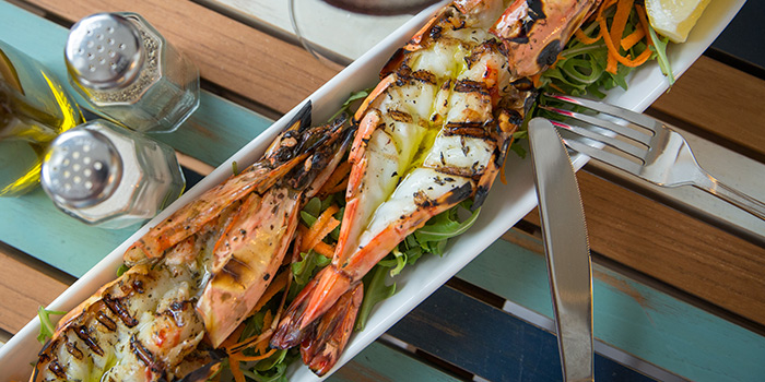 Grilled Prawns from Bakalaki Greek Taverna on Seng Poh Road in Tiong Bahru, Singapore