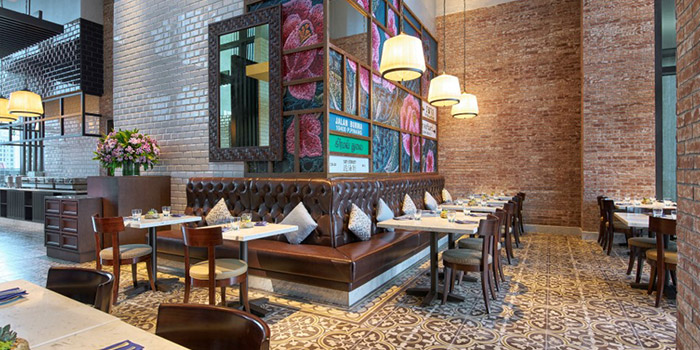Dining Area of Blue Jasmine at Park Hotel Farrer Park in Little India, Singapore.