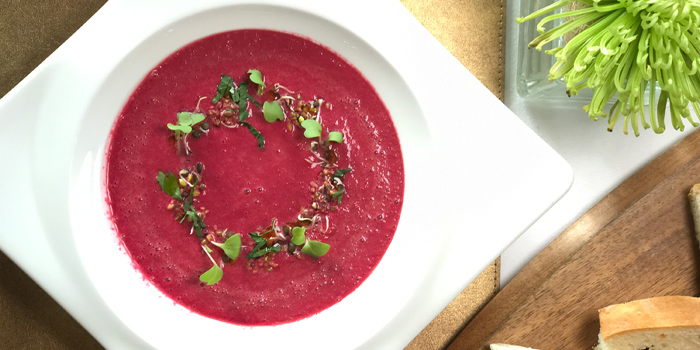Cold Beetroot Soup from LUCE Italian Restaurant at Eastin Grand Hotel Sathorn Bangkok, Bangkok