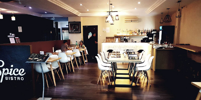 Interior of EL Spice Bistro in Jalan Besar, Singapore