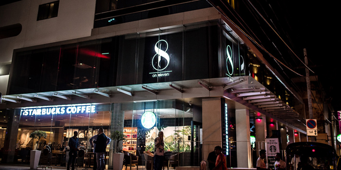 Exterior of 8 on eleven in Sukhumvit Soi 11, Bangkok