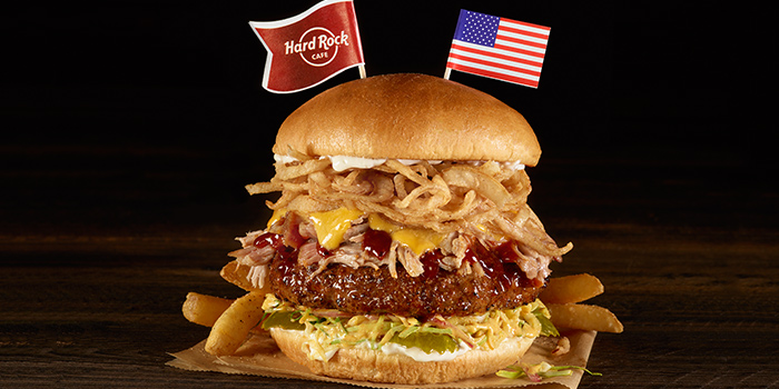 WBT Memphis Tennessee BBQ Burger from Hard Rock Cafe (Cuscaden) at HPL House in Tanglin, Singapore
