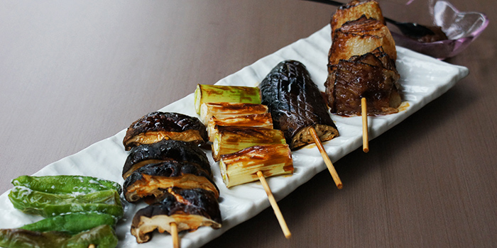 Assorted Vegetable Yakitori from Hibiki Yakitori Lounge in Bukit Timah, Singapore