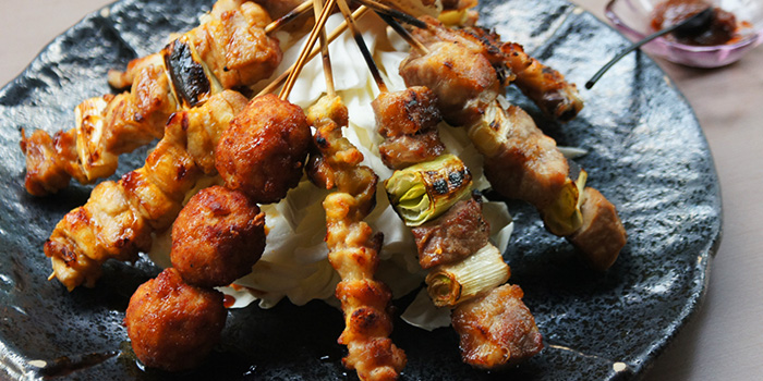 Assorted Yakitori from Hibiki Yakitori Lounge in Bukit Timah, Singapore