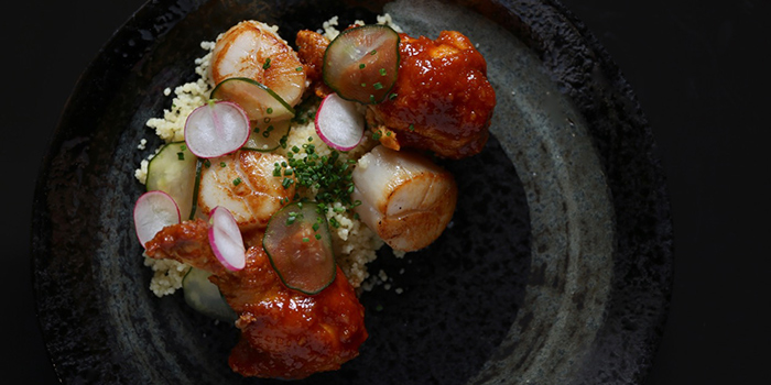 Hokkaido Scallops from NUDE Seafood in Marina Bay Financial Centre in Raffles Place, Singapore