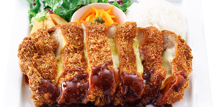 Chicken & Mozzarella Cutlet from Hoshino Coffee (Plaza Singapura) in Dhoby Ghaut, Singapore