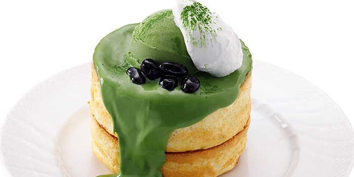 Matcha Pancake Souffle from Hoshino Coffee (Plaza Singapura) in Dhoby Ghaut, Singapore
