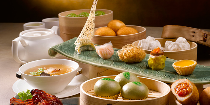 Assorted Dim Sum from Jade at Fullerton Hotel in Fullerton, Singapore