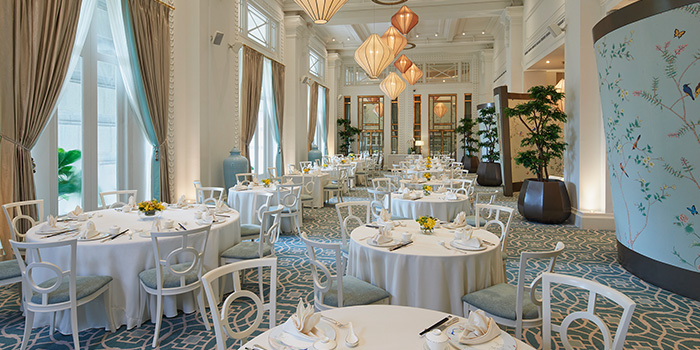 Main Dining Hall of Jade at Fullerton Hotel in Fullerton, Singapore