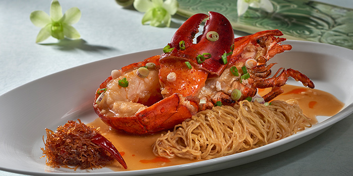 Simmered Egg Noodles with Boston Lobster from Jade at Fullerton Hotel in Fullerton, Singapore