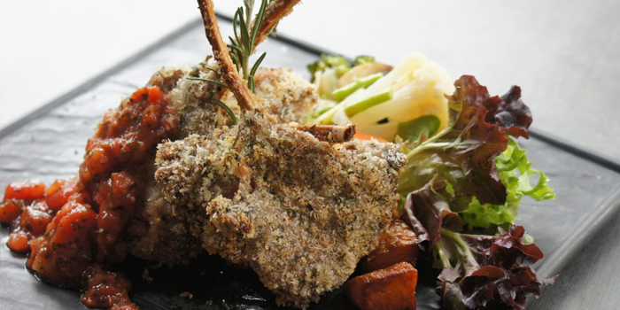 June Chope Exclusive - Herbed Crusted Lamb Chop from Charlie