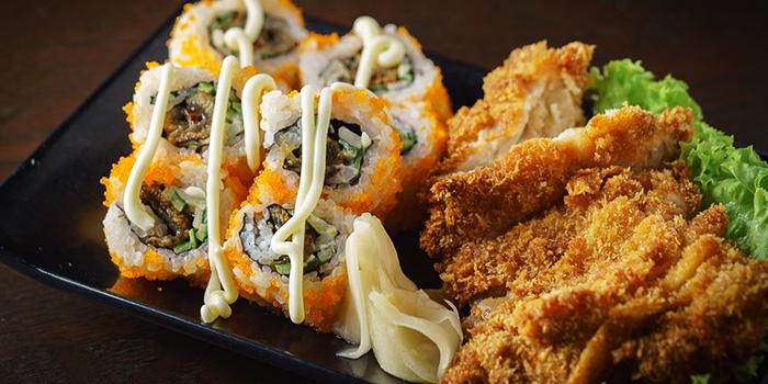 Sushi & Pork Cutlet from Kushi Dining Bar in Paya Lebar, Singapore