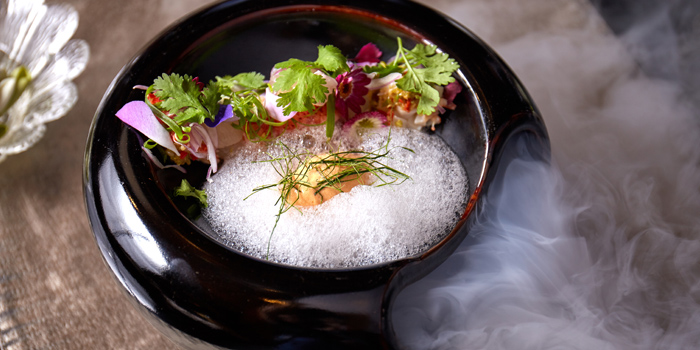 Maine Lobster Red Curry Salad from Sra Bua by Kiin Kiin at Siam Kempinski Hotel in Siam, Bangkok