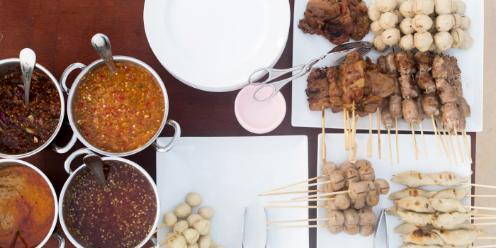 Meat Ball Local Street Food from Phuket Marriott Resort and Spa, Nai Yang Beach, Phuket, Thailand.