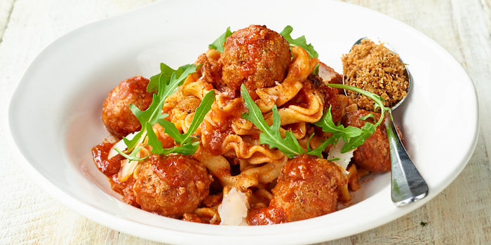 Meatball Pappardelle from Jamie