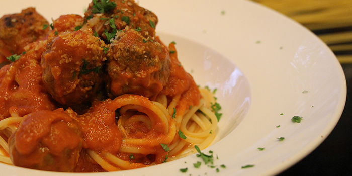 Meatball Spaghetti from Miska Cafe (Sentosa) in Sentosa, Singapore