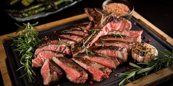 Opus 1 to 1.2kg Porterhouse Steak from Opus Bar & Grill in Hilton Hotel along Orchard Road, Singapore