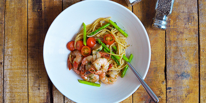 Prawn & Asparagus Pasta from Cali @ Changi in Changi, Singapore