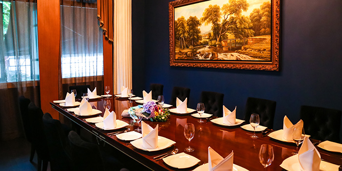 Private Dining Room of The Song of India in Newton, Singapore