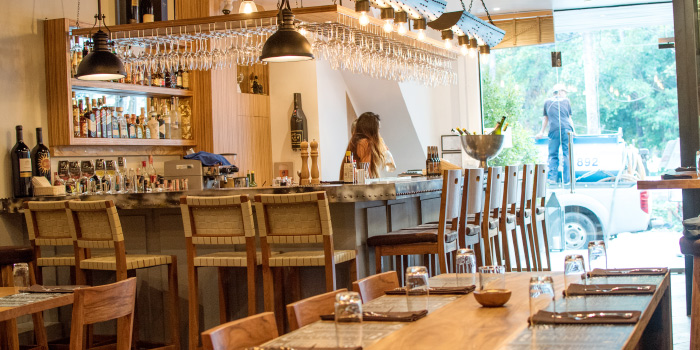 Restaurant Ambiance of The 9th Glass Wine & Bistro in Cherngtalay, Phuket, Thailand.