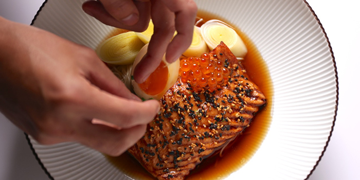 Salmon Belly from NUDE Seafood in Marina Bay Financial Centre in Raffles Place, Singapore