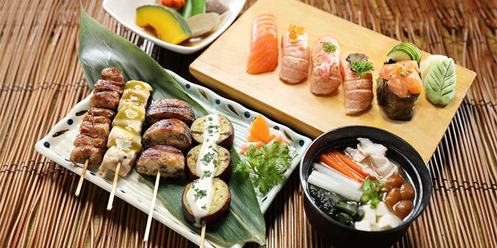 Salmon Sushi Delights & Kushiyaki Gozen from Shin Kushiya at VivoCity in Harbourfront, Singapore