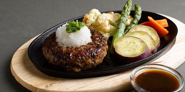 Hamburg Steak with Oroshi Ponzu from Shio & Pepe at Marina Square in Promenade, Singapore