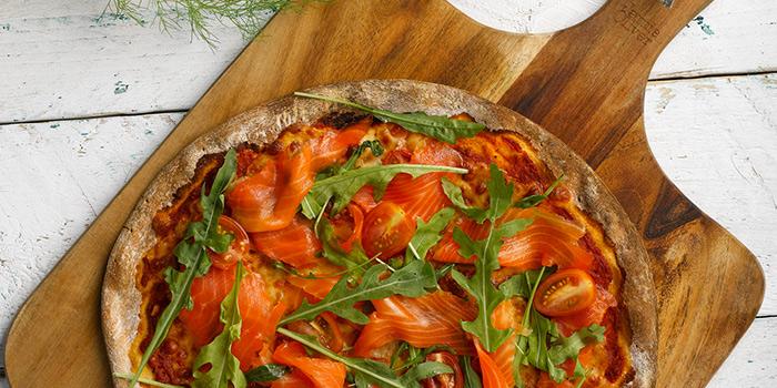 Smoked Salmon Pizza from Shio & Pepe at Marina Square in Promenade, Singapore