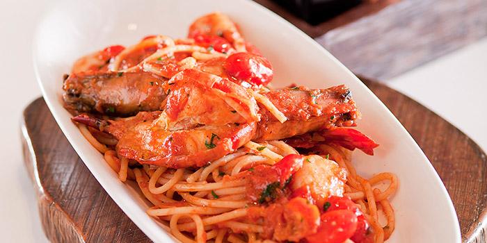 Spaghetti Mancini with Prawns, Osteria Ristorante Italiano, Tsim Sha Tsui, Hong Kong