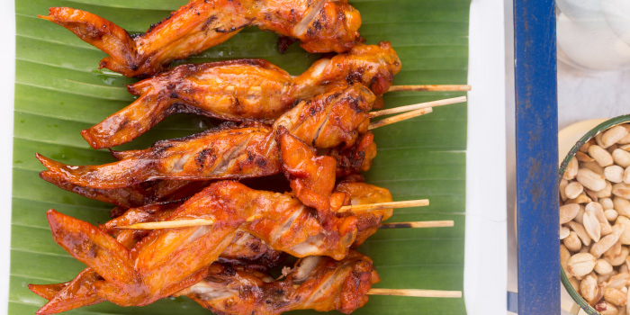 Local Street Food Grill Chicken from Phuket Marriott Resort and Spa, Nai Yang Beach, Phuket, Thailand.