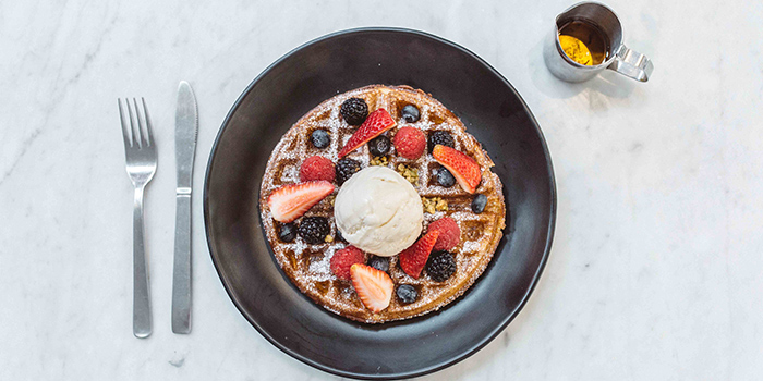Waffle from The Refinery in Jalan Besar, Singapore