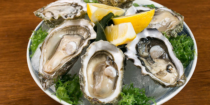 Fresh Oysters from Tsukiji Fish Market Restaurant at Orchard Central in Orchard, Singapore