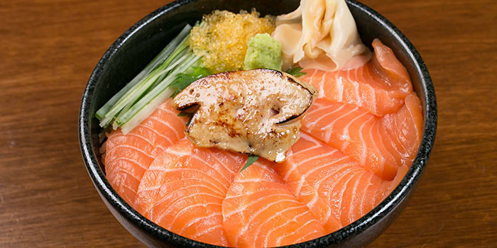 Salmon & Foie Gras Don from Tsukiji Fish Market Restaurant at Orchard Central in Orchard, Singapore