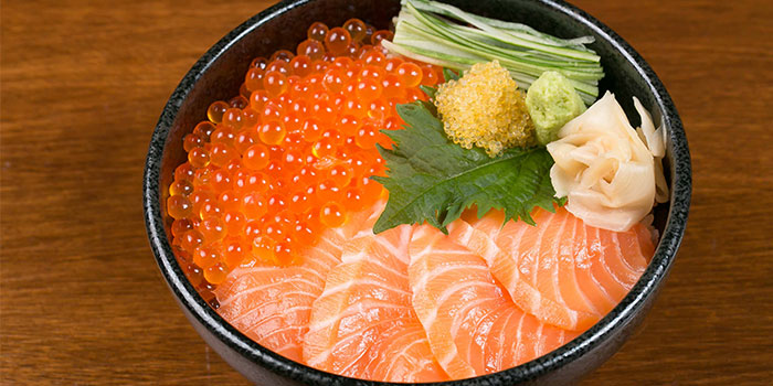 Salmon & Salmon Roe Don from Tsukiji Fish Market Restaurant at Orchard Central in Orchard, Singapore