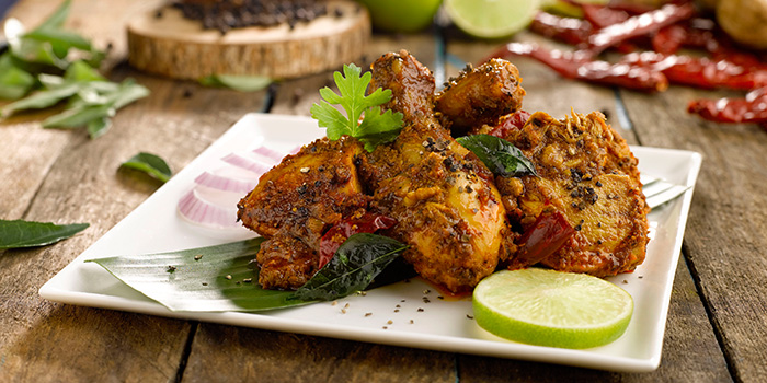 Chettinad Fried Pepper Chicken from Pavilion Banana Leaf at Jurong Point Shopping Mall in Jurong, Singapore