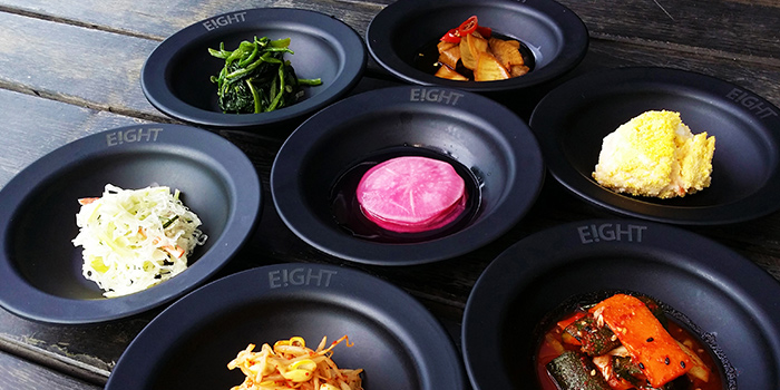 Banchan from 8 Korean BBQ (The Central) in Clarke Quay, Singapore