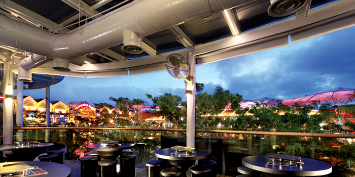 BBQ Outdoor Area from 8 Korean BBQ (The Central) in Clarke Quay, Singapore